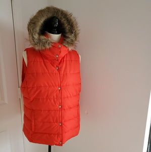 Old Navy Red Hooded Vest .